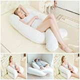 Large Deluxe 9 ft big C-U shape full body & back support maternity pregnancy comfort pillow Disability / Fibromyalgia Aid Pillow only
