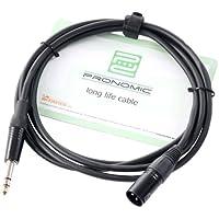Pronomic JXM-2.5 Audiokabel Patchkabel Adapterkabel (Länge 2,5m, säure- und ölfest, Spannzangen-Zugentlastung)