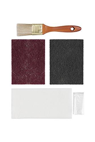 Hermann Sachse Schleifvlies rot Pad K 320 und K 600 für Holz mit Öl Pinsel Chinaborste, Einweghandschuhe und Tücher -
