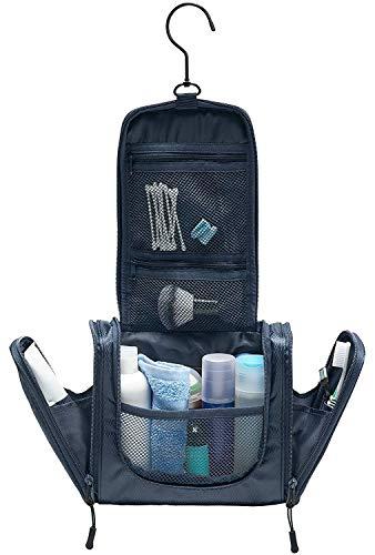 TRABONA Kulturbeutel zum Aufhängen für Herren - Waschtasche für Männer Premium-Qualität - Reise Kulturtasche mit verbessertem Konzept [2019]