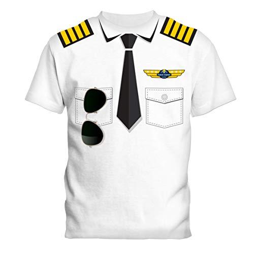 SOCATEC- Camiseta blanca piloto 100% algodón, 180 g, talla 8 años, unisex, 18253,