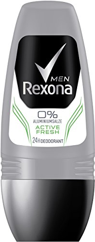 Rexona Deo Roll-On Men Active Fresh ohne Aluminium, 6er Pack (6 x 50 ml)