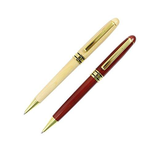Sipliv juego de 2 bolígrafos de madera de palo de rosa y arce set pluma de madera artesanal pluma de regalo de colección retro