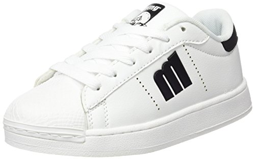 MTNG Attitude (MTNG8) Unisex-Kinder 84408 Sneakers ACTION PU BLANCO / RASPE NEGRO