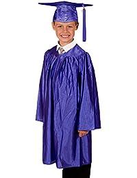 Children's Primary School Graduation Gown and Cap - Shiny