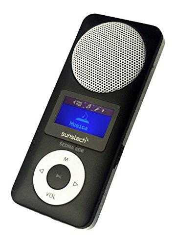 Sunstech Sedna Lecteur MP3avec haut-parleur intégré, lecteur SD et radio Noir 8Go