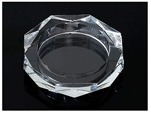 ZHUANGGQSHOP Cenicero Cristal Octagonal cenicero Transparente