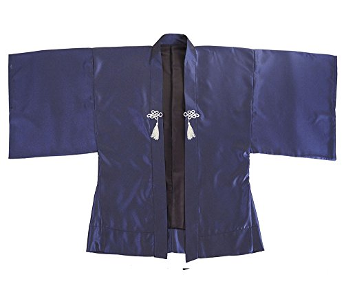 Princess of Asia Japan Samurai Haori Kimono Jacke (Blaugrau)