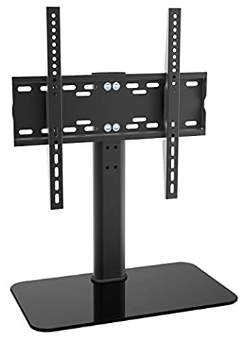 RICOO Meuble TV Design FS304B Support pied en verre support