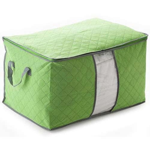 ypypiaol Kleidung Decke große Falttasche Aufbewahrungsbox tragbare Bambuskohle Veranstalter Grün -
