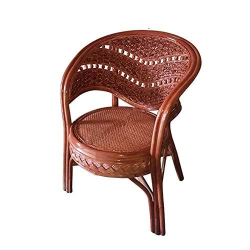 YIKUI Stuhl, natürliche und umweltfreundliche Rattan Sessel, handgefertigte Stuhl aus chinesischem Rattan, Indoor und Outdoor Freizeit Korbstuhl, Größe 86 * 68 * 70cm (Dragon Ball Stuhl Einzelstück) - Stapelbarer Outdoor-stuhl