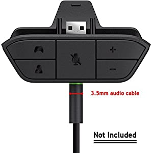 CyberKit® Stereo Headset 3.5mm Adapter Chat Audio Headphone Converter For Microsoft Xbox One Game Controller from CyberKit