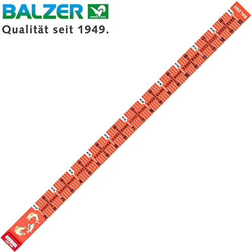 Balzer Shirasu Maßband 130cm - Fischmaßband zum Messen von Fischen, Measuring Mat zum Spinnfischen auf Raubfische, Fische messen (Messen Fisch)