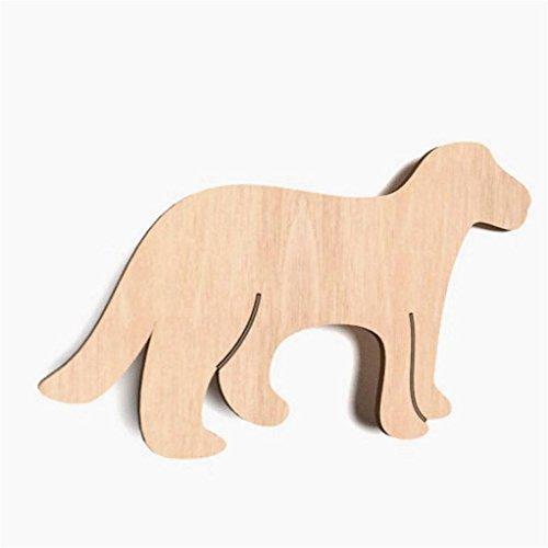 WoMa Kreativ Shop / deutschlandweit einziger Anbieter diesen Hersteller 10x Hund Tiere blank Form Holz Basteln Dekoration Malen Aufhängen
