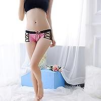 WWF Calzoncillos de Malla Sexy Perspectiva de Las Mujeres Escritos calados,Rosado,Un tamaño