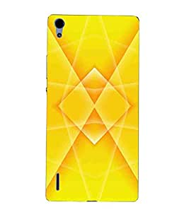 For Huawei Ascend P7 beautiful icon ( beautiful icon, icon, brown background ) Printed Designer Back Case Cover By TAKKLOO
