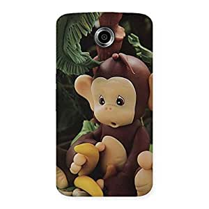Enticing Toy Monkey Multicolor Back Case Cover for Nexsus 6
