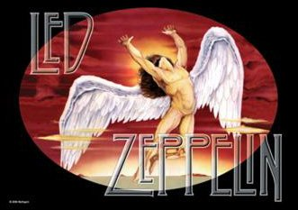 Led Zeppelin,Swan Song, Fahne Led Zeppelin-swan Song-poster