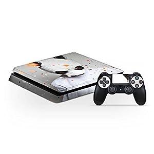 DeinDesign Sony Playstation 4 Slim Folie Skin Sticker aus Vinyl-Folie Aufkleber Cro Merchandise Fanartikel Panda Banda