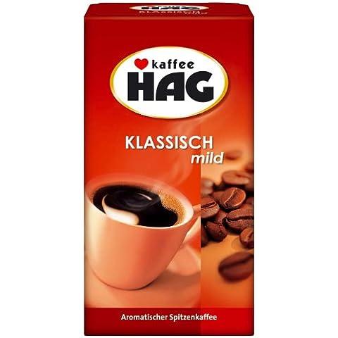 Caffè Hag Classico Leggero, Aroma Pieno, Senza Caffeina, Solubile, 500g, 19105
