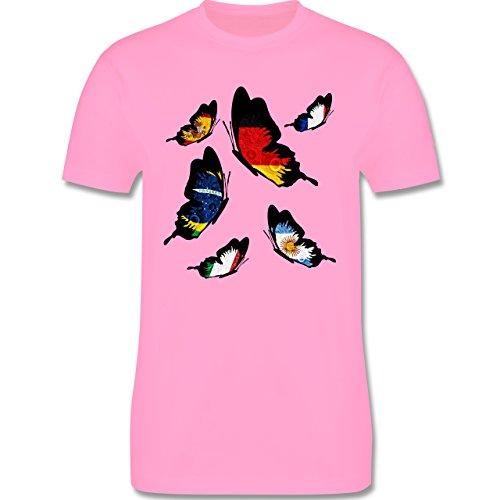 Länder - WM 2014 Länder Schmetterlinge - Herren Premium T-Shirt Rosa