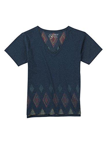 Pre-short Sleeve Graphic T-shirt (Burton Damen Geo V-Neck Short Sleeves T-Shirt, Indigo Heather, M)