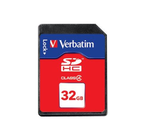 Verbatim class 4 sdhc secure digital 32768 mb