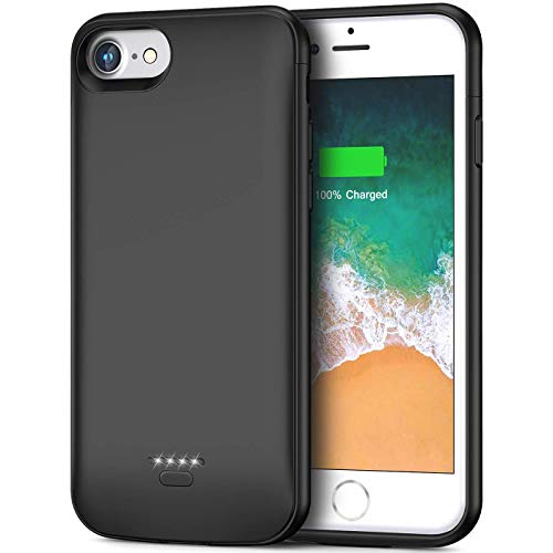 Cover Batteria per iPhone 6s/6/7/8, 6000mAh Custodia Ricaricabile 2 in 1 Cover Caricabatterie Portatile Batteria Esterna Battery Case Protettiva Power Bank Backup Charger Case 4,7inch