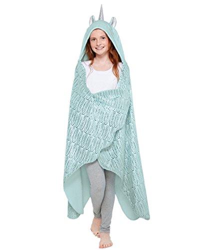 Wearable manta, unicornio Cozy manta capa, suave forro polar manta de franela para adultos y niños Snuggle dormir para cama sofá