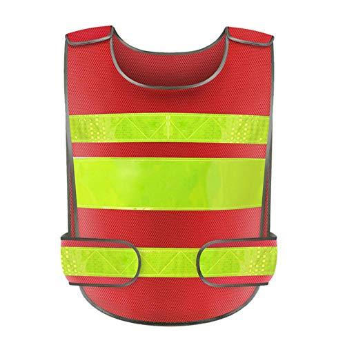 Warnweste 2 Stück reflektierend mit PVC-Fenstertaschen und Frontreißverschluss Atmungsaktives, leichtes Schutz-T-Shirt mit verstellbarem Riemen und Klettverschluss in Orange - Reflexion 2 T-shirt