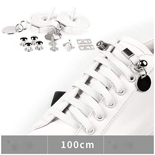 VNEIRW 1 Paar Schnürsenkel Schnellschnürsystem Kinder No Tie Shoelaces, für Casual Fitness Running Sportschuhe Camping Wandern- Befreie Deine Hände (A)