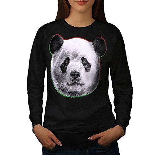 cracked-wood-panda-timber-style-women-new-black-xl-sweatshirt-wellcoda