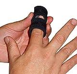 IRUFA, FS-OS-12, Férula de dedo transpirable 3D, para gatillo de dedo, alisado curvado, doblado, bloqueado y estenosing tenosynovitis manos, negro, talla única, una unidad