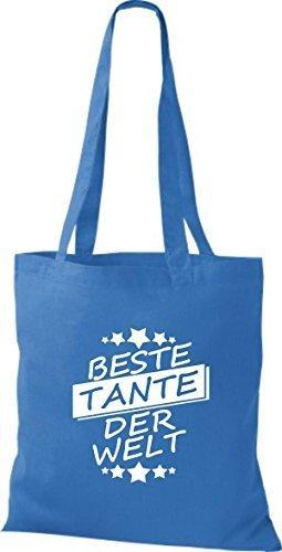 T-shirt Di Stoffa Di Cotone, La Migliore Zia Del Mondo Reale