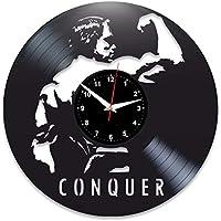 EVEVO Arnold Negra Egger Reloj de Pared Vinilo Tocadiscos Retro de Reloj  Grande Relojes Style habitación 7a72c5ee40a