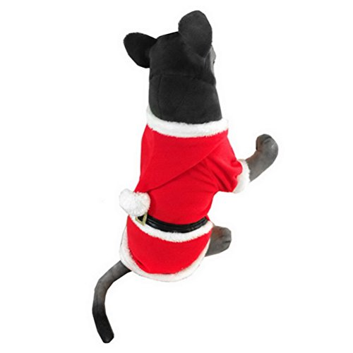 zunea Medium Große Hunde Kleidung Weihnachtskostüm Santa Claus Anzug (Suit Kostüme Leisure)