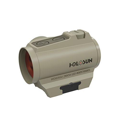 Holosun HS503G-U-FDE Microdot Rotpunkt Visier mit wechselbarem 2MOA Punkt, 65MOA Kreis Absehen, FDE, Picatinny/Weaver Schiene, Jagd, Sportschießen Softair, Tactical - 70127997