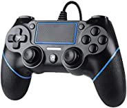 Zexrow Wired Controller per PS4, Wired Game Controller per PlayStation4/Pro/Slim/PC, Gamepad con doppia vibraz