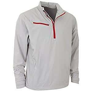 2014 Callaway Mens Weather Series Windproof 1/4 Zip Golf Jacket High Rise Small