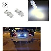 Luces de posición T10 para coche (2 unidades, faro LED blanco BA10, 6000K, 12 V, 5 W)