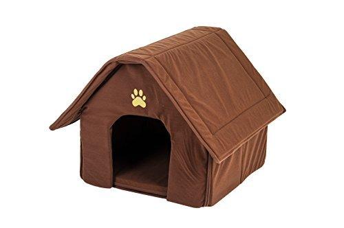 hundeinfo24.de Indoor Hundehütte Haras Hundehöhle Hundehaus Hundebox Hundebett (braun)