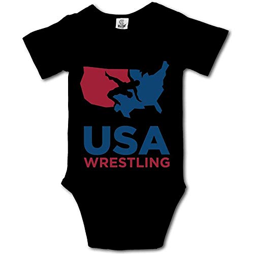 guolinadeou USA Wrestling Baby Onesies Boys Girls Bodysuit Newborn Infant Jumpsuit 6Months