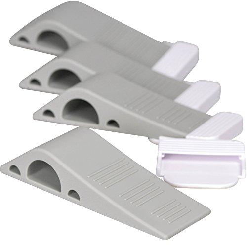 stilemo-door-stopper-non-slide-tall-rubber-wedge-modern-design-doorstop-with-holder-gray-pack-of-4