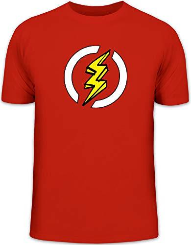 Blitz Kostüm Superheld Comic Herren T-Shirt Karneval & Fasching witzige Verkleidung Rot // 3XL