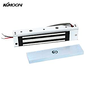 KKMOON Porte simple 12V électrique magnétiques Serrure électromagnétique 180KG (350LB) Force de maintien de contrôle d'accès pour porte en bois, porte en métal, porte en verre, porte coupe-feu, etc