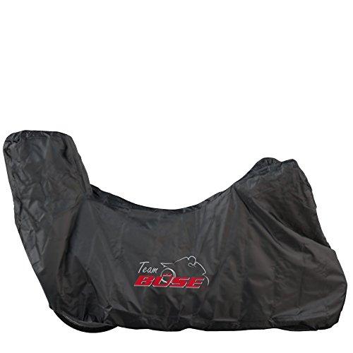 Büse Motorrad Abdeckplane mit Topcase, Farbe schwarz, Größe L