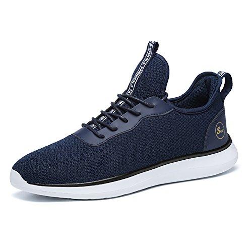 Elaphurus Uomo Scarpe da Running Basse Fitness Sportive Shoes Sneakers (Blu  EU48) 7fd8078036a
