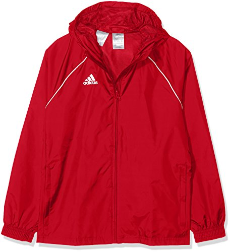 adidas Kinder CORE18 RN Jacket Power red/White 11-12 Years