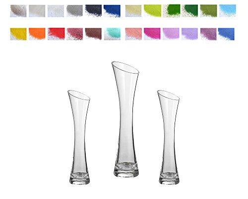 Vasen und Sand monofiore mit Schnitt mit Pfeife Ritus der Sand Dekoration Hochzeit ()