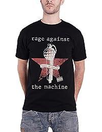 Rage Against The Machine Herren T Shirt Schwarz Bulls On Parade band logo